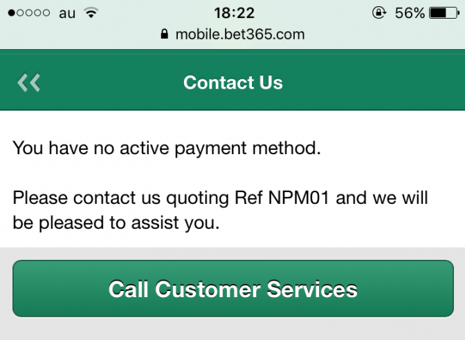 Q7.1 you have no active payment method