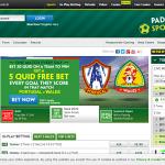 Paddy Powerのトップページ