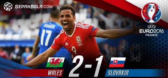 ユーロ2016ウェールズスロバキア結果