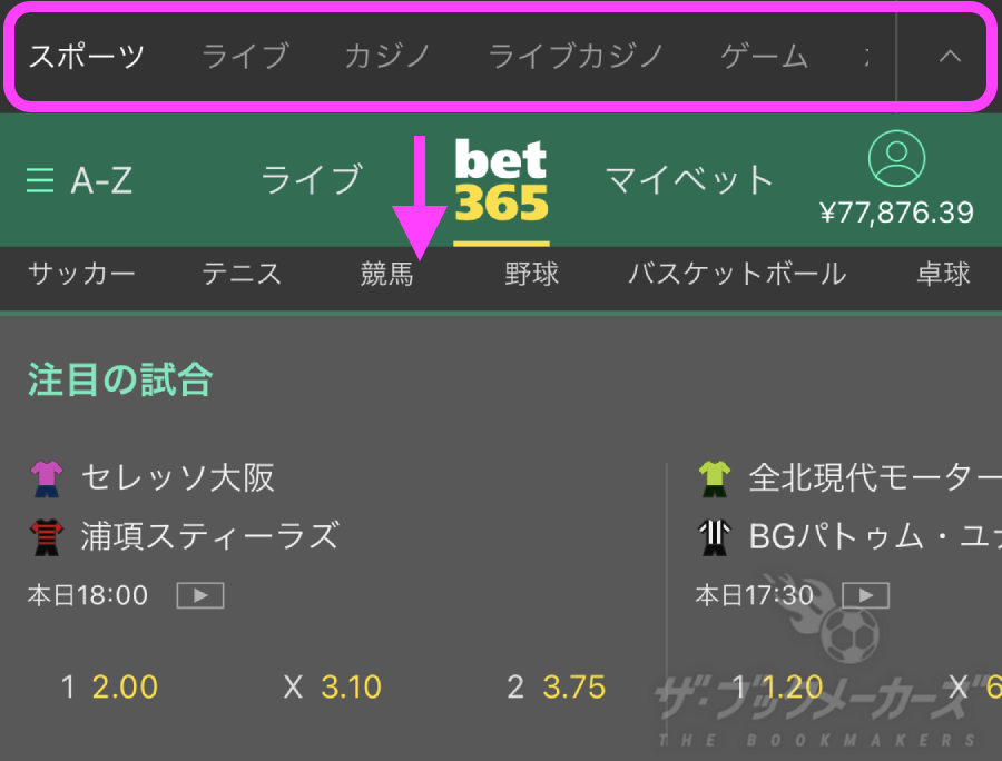 bet365スワイプゲーム