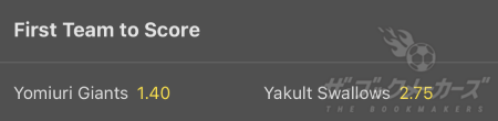 bet365 - First Team To Score
