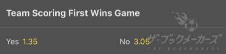 bet365 - Team Scoring First Wins Game