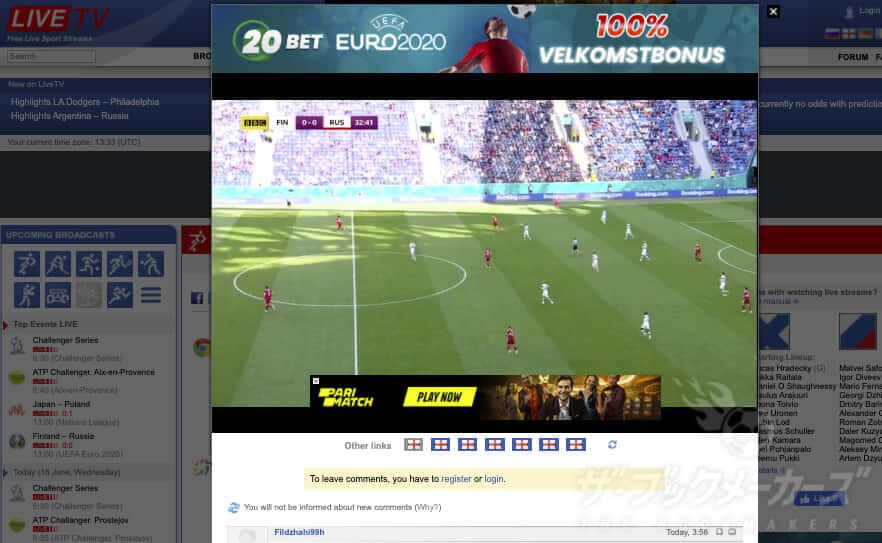 LIVE TV:サッカー無料視聴ストリーミングサイト