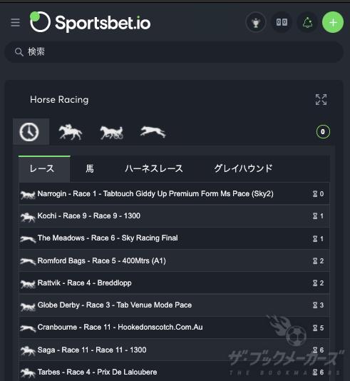 スポーツベットアイオー・海外競馬レース